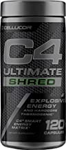 C4 Ultimate Shred Pre Workout Capsules | Weight Loss Supplement for Men & Women with Ginger Root Extract| 120 Capsules