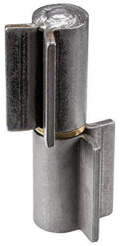 Bisagra para puerta de Gedotec para soldar para puertas de metal Bisagra para cargas pesadas para puerta de jardín y máquinas Altura: 126 mm 1 pieza – Bisagra para puertas de acero y vehículos