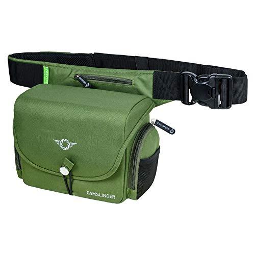 COSYSPEED Camslinger Outdoor MKII Kameratasche mit Hüftgürtel für Systemkameras und kleine DSLR-Kameras Olive