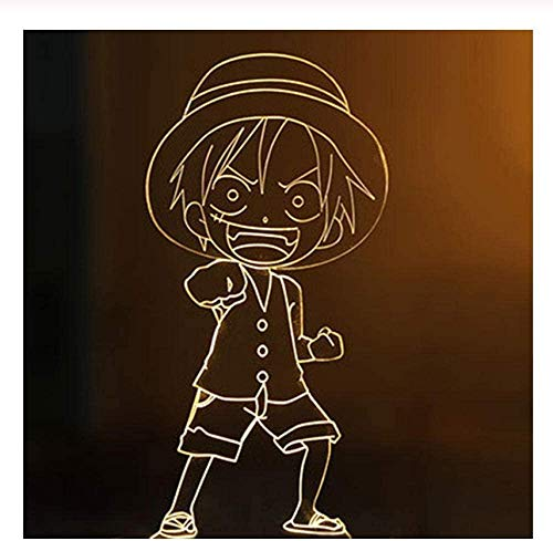 3D LED Nachtlichter Amazing Effect Decor Home Atmosphäre Kreative Anime One Piece Charaktere Form Touch Light Sensor Tischlampe