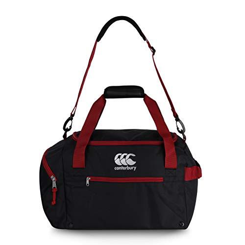 Canterbury Dahlia - Bolsa de Deporte (Talla M), Color Negro y Rojo