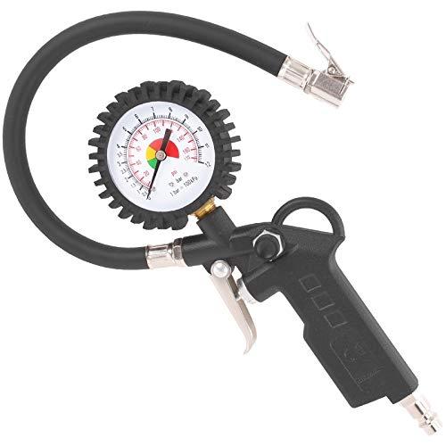 TECPO 300323 PROFI Druckluft Reifenfüllpistole 0-12 BAR 0-170 PSI Reinfenfüller Luftdruckprüfer Luft Messgerät