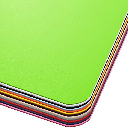 Office Marshal® Bodenschutzmatte in Trendfarben | 75 x 120 cm für Hartböden | ohne schädliche Weichmacher und PVC | Größe und viele Farben zur Auswahl (Hellgrün)