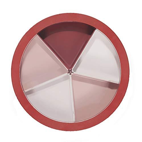 HAYAN Snack Schalen Dish süßigkeiten box mit Deckel 28,6 × 8 cm (Rot)
