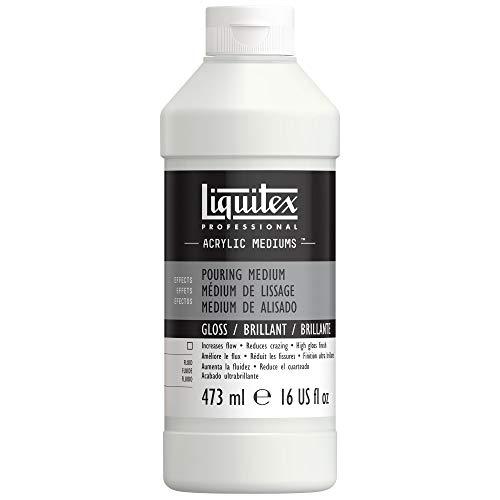 Liquitex 5416 Gieß- und Pouring- Medium, wasserfest, nicht-vergilbend, flexibel, erhöht den Farbfluss, 473ml Flasche