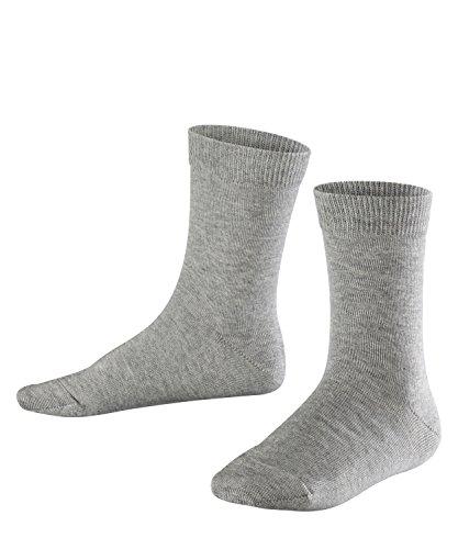 FALKE Kinder Socken Family - 94% Baumwolle, 1 Paar, Grau (Light Grey 3400), Größe: 35-38