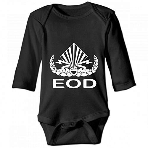 KioHp Explosive ordnance EOD lange mouwen body met ronde hals voor baby's, unisex