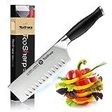 TooSharp Cuchillo de Chef Nakiri – Serie Comfort-Pro – Cuchillos de Acero Inoxidable Alto en Carbono X50CrMOV15  7' (178mm)
