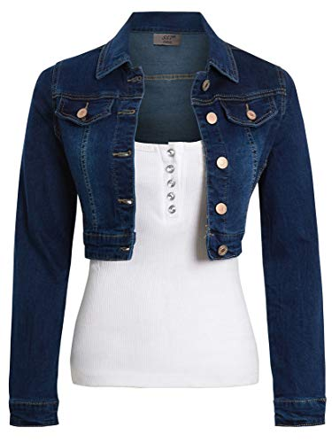 SS7 Jeansjacke aus Stretch für Damen Gr. 36, Indigo