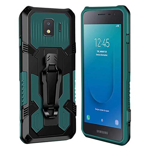 xinyunew Hülle Kompatibel mit Samsung Galaxy J2 Core, Stoßfest Outdoor Handy Hülle Militärstandard Schutzhülle Robust Stürzen Heavy Duty Gürtelclip Handyhülle für Galaxy J2 Core- Grün