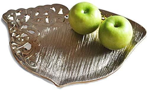 Fruit Vegetable Bowl Basket Creative Hollow ceramics Champagne Gold Fruit tray practical High capacity Pastry dish coffee table Home Decoration Candy plate Living room Decoration Fruit Display Stand