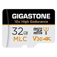 Gigastone 32GB MLC Micro SD Card 高耐久 4K ビデオ撮影 防犯カメラ ドライブレコーダー 監視カメラ 対応 90MB/s U3 Class10 (32GB, MLC 1個セット)
