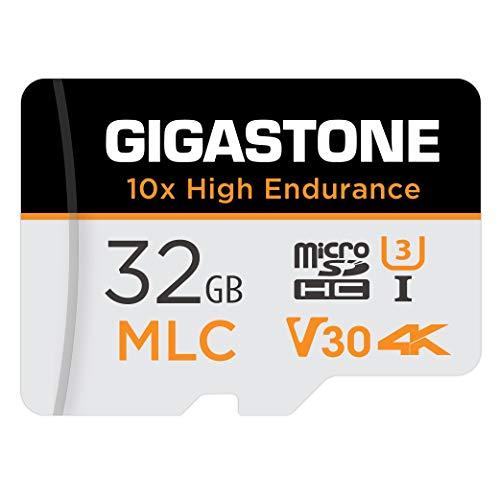 Gigastone MLC Scheda di Memoria 32 GB, 10x High Endurance, Compatibile con Telecamera di sicurezza, Videocamera, Gopro, Dashcam, Velocità di lettura fino a 95 MB/s. Ideale per video 4K, U3 V30 C10
