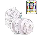 BOENTA Candle Lights 100% Waterproof Coloured LED Light(Submersible) with Remote Control Tea Lights Candles,Christmas Decoration Waterproof Lights,for Vase Fish Tank Wedding Halloween Christmas