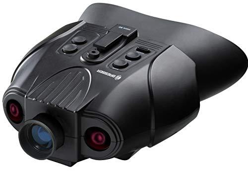 Bresser digitales Nachtsichtgerät Binokular 3x mit digitaler Zoom-Funktion, zuschaltbarer Infrarotbeleuchtung, großem Display, integriertem Akku und Aufnahmefunktion