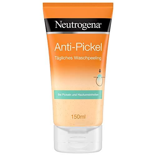 Neutrogena Anti-Pickel Tägliches Waschpeeling, mildes Gesichtspeeling für eine glatte, geschmeidige und weiche Haut (2 x 150 ml)