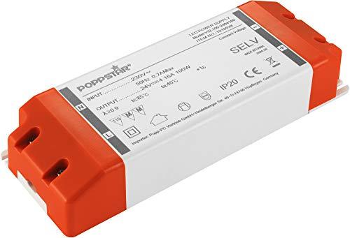 Poppstar LED Trafo Transformator 230V AC / 24V DC 4,16A für 1 W bis 100 Watt LEDs