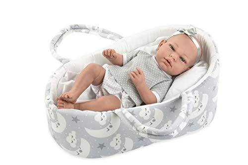 Ann Lauren Dolls 15 Inch Anatomically Correct Baby Doll Girl Doll with Bassinet- Baby Dolls