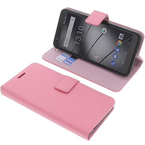 foto-kontor Tasche für Gigaset GS280 Book Style pink Schutz Hülle Buch