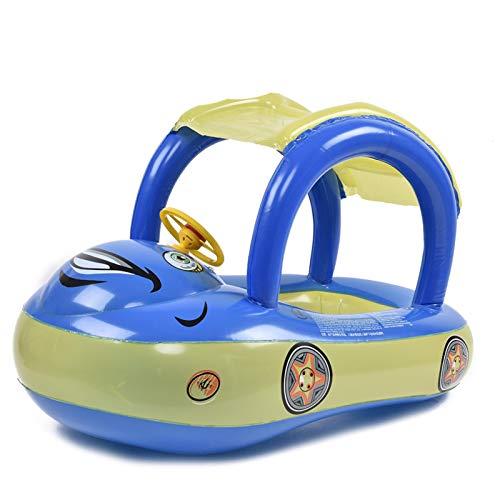 Gusengo Baby Schwimmring Mit Dach Aufblasbarer Schwimmhilfe Mit Sonnendach - Aufblasbarer Schwimmreifen Baby Pool Babysitz Boot Mit Sonnenschirm Float Kinder Schwimmring Schwimmreifen Spielzeug