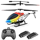 4DRC M5 Remote Control Helicopter for Kids Adults,Altitude Hold 2.4GHz RC Helicopters with Gyro for Beginner Toys Aircraft,Indoor Flying with 3.5 Channel,LED Light,High&Low Speed,2 Battery