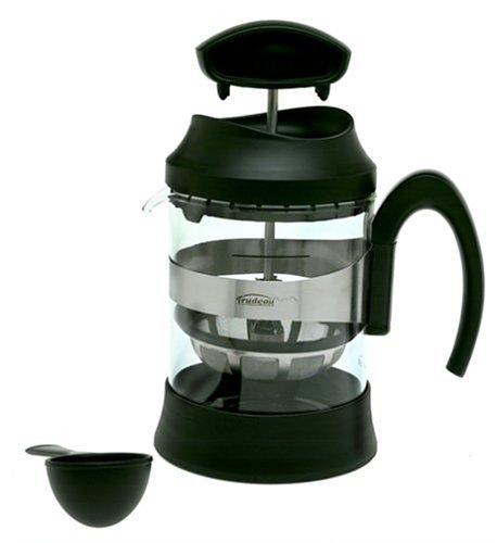 Trudeau Tirra Coffee Press 16 Ounce, Black