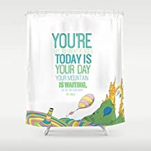 Home&hat Your Mountain is Waiting. DR. Seuss, OH The Places You'll GO Shower Curtain 60