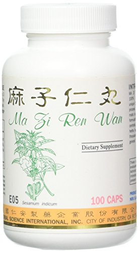 Sesamum Constipation Formula Dietary Supplement 500mg 100 Capsules (Ma Zi Ren Wan) E05 100% Natural Herbs