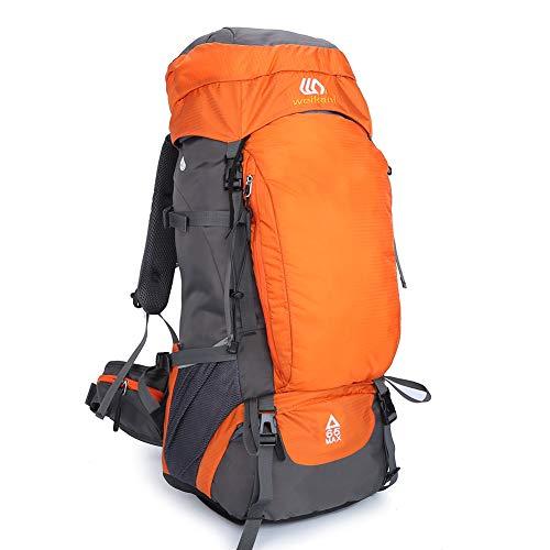 SKYSPER Wanderrucksack 65L Wasserdicht Trekkingrucksack Bergsteigen Große Trekking Rucksack für Reisen Picknick Camping Klettern Outdoor Sport Hiking Backpack