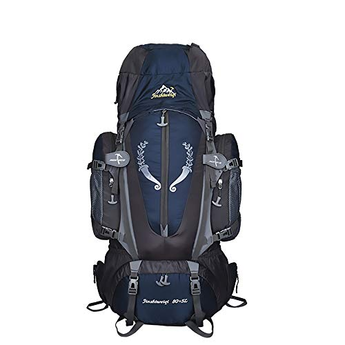 SWNN Mochila 80L Bolso De Alpinismo Al Aire Libre Encriptación Mochila De Viaje De Nylon Azul Oscuro