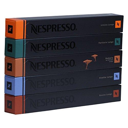 Nespresso Lungo Set alle 5 Lungos, 5 Stangen à 10 Kapseln, 50 Kapseln