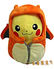POKEMON Plush Toy Doll 25cm Fire Eevee Sleeping Bag Pikachu (orange)