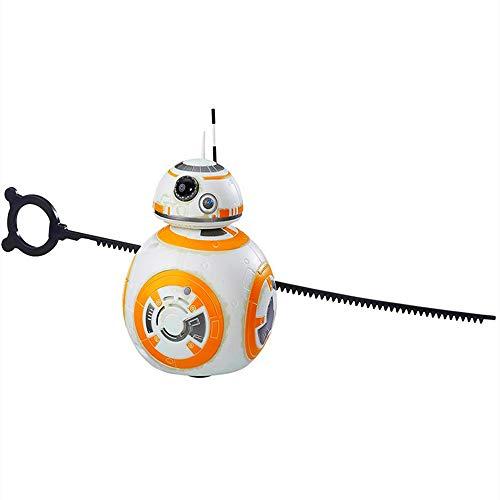 Juguete giratorio con efecto de sonido de la serie Star Wars BB8, juguete infantil modelo de robot héroe Star Wars BB-8, utilizado como regalo de cumpleaños para niños u otros regalos de Navidad