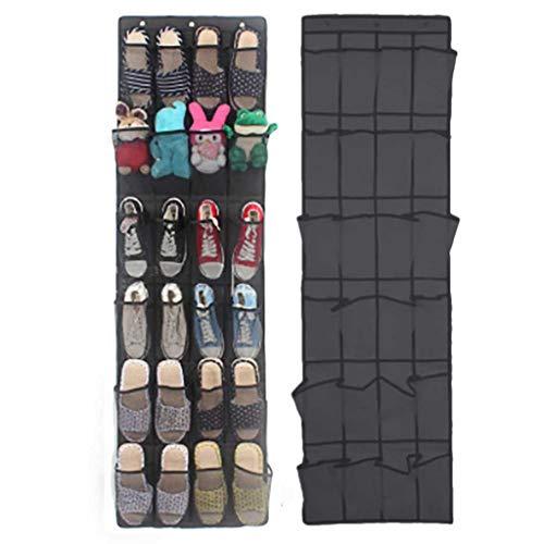 Sjydq 24 bolsillo de bolsillo espacio de la puerta Organizador colgante Rack Bolsa de pared Almacenamiento Closet Soporte de guardarropa Zapatos de guardarropa Calcetines Soldies Organizadores colgant