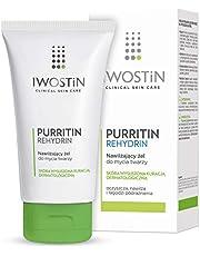 Iwostin Purritin Rehydrin Nawilżający Żel Do Mycia Twarzy - Skóra Wysuszona Kuracją Dermatologiczną - 150 ml