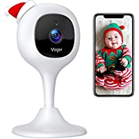Voger Baby Monitor Camera with 2-Way Audio, Motion Detection Night Vision, Compatible with Alexa