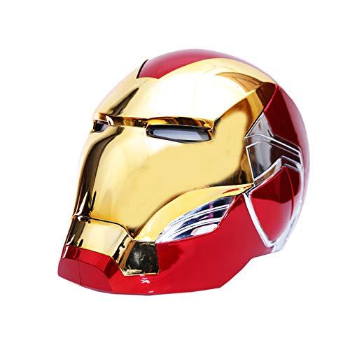 LINLIN Iron Man elettronico Casco Vendicatori Iron Man Mask Materiale ABS Halloween Film Cosplay Testa del Costume Cove Puntelli 1: 1 Wearable Accessori,Red