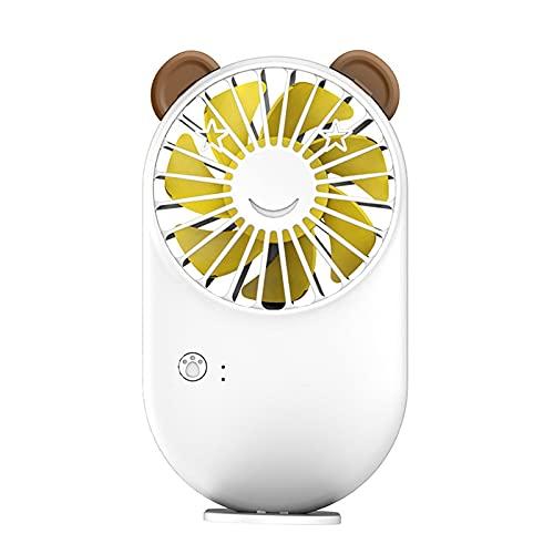 CHENXTT Ventilador Alta Potencia Eólica Y Bajos Decibeles. Carga Usb Tres Velocidades De Viento En La Mano Lindo Abanico De Bolsillo En Verano blanco 5.3*3in