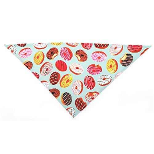 Hey tienda Donut patrón mascota saliva toalla perro bufanda perro pequeño y mediano tamaño perro triángulo toalla suministros