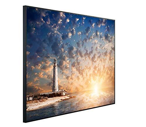 Ecowelle Infrarotheizung mit Bild | 1200 Watt | 114x100x3cm | Infrarot Heizung| | Made in Germany| d 16 Leuchtturm