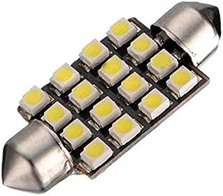 luces umbrales de puertas del compartimiento del motor y del tronco luz del techo luz del matricula AERZETIX: 2 x Bombillas blanco C5W 12V 4LED SMD 39mm con efecto Xenon para iluminacion interior