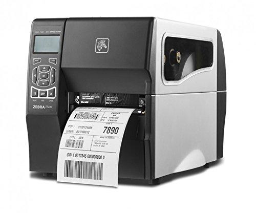 Zebra zt230–Stampante di etichette (trasferimento termica, 203x 203dpi, 152mm/sec, LCD, parallelo, Wireless LAN, fili) Nero, colore: bianco