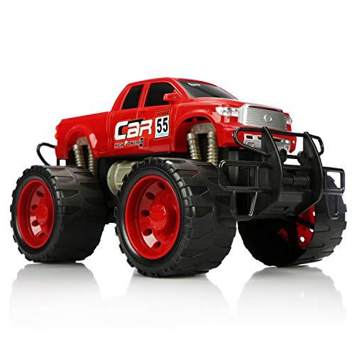 com-four® Camión Monstruo XL, vehículo de Cuerda para ni�