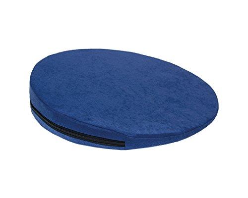 Keilkissen, RUND Ø 36 cm, 100% Baumwollbezug! - blau - Kissen Sitzkissen Sitzkeilkissen Sitzkissen Sitzkeil