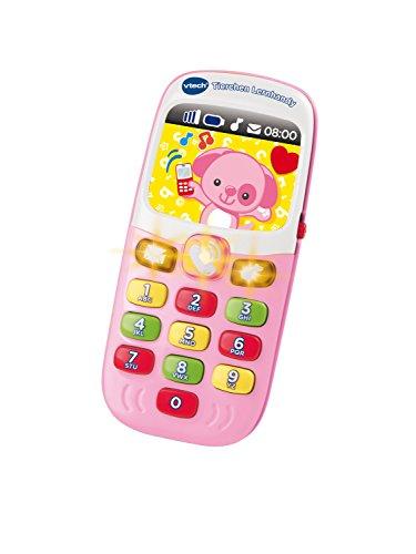 VTech Baby 80-138154 - Tierchen Lernhandy pink, Babyspielzeug