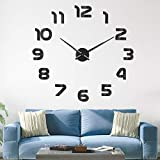 SOLEDI Reloj de Pared 3D DIY Reloj de Etiqueta de Pared Decoración Ideal para la Casa Oficina Hotel Restaurante