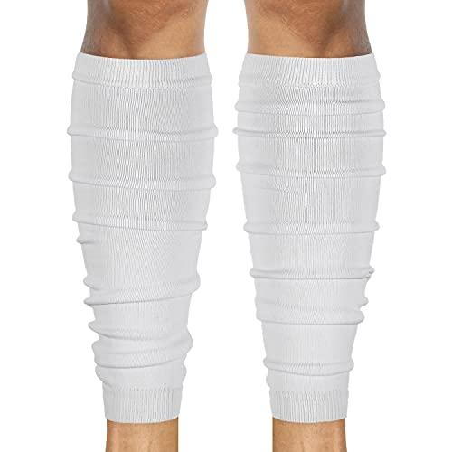 SLEEFS Calf Compression Leg Sleeves - Football Leg Sleeves for Adult Athletes - Shin Splint Support (White)