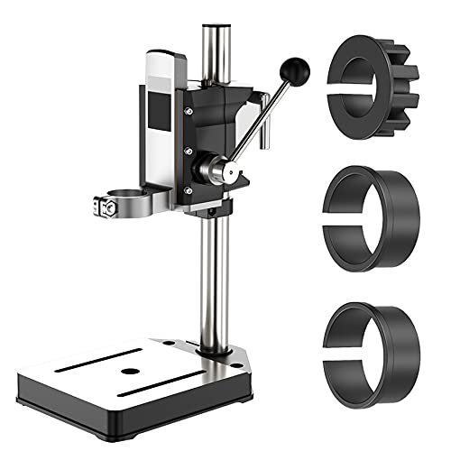 Drill Press Stand, Drill Press Stand Heavy Duty for Hand Drill with Vise, Bench Drill Press Floor Stand for Workbench Repair Tool, Best Gifts for DIY Lovers