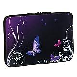 Pedea - Funda de Neopreno para Tablet o portátil (10.1'/25.6 cm), diseño de Mariposa, Purple Butterfly