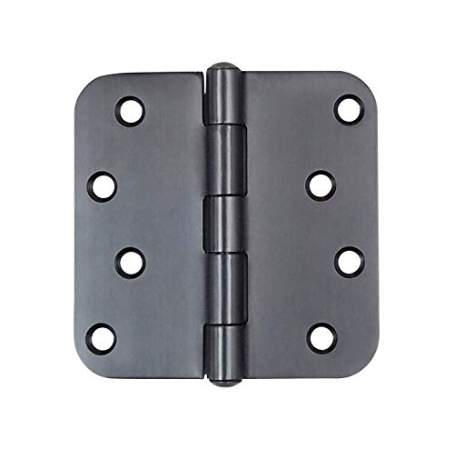 Hinge Outlet Oil Rubbed Bronze Stainless Steel Door Hinges - 4 Inch with 5/8 Inch Radius, Non-Removable Pin, Highly Rust Resistant, 3 Pack